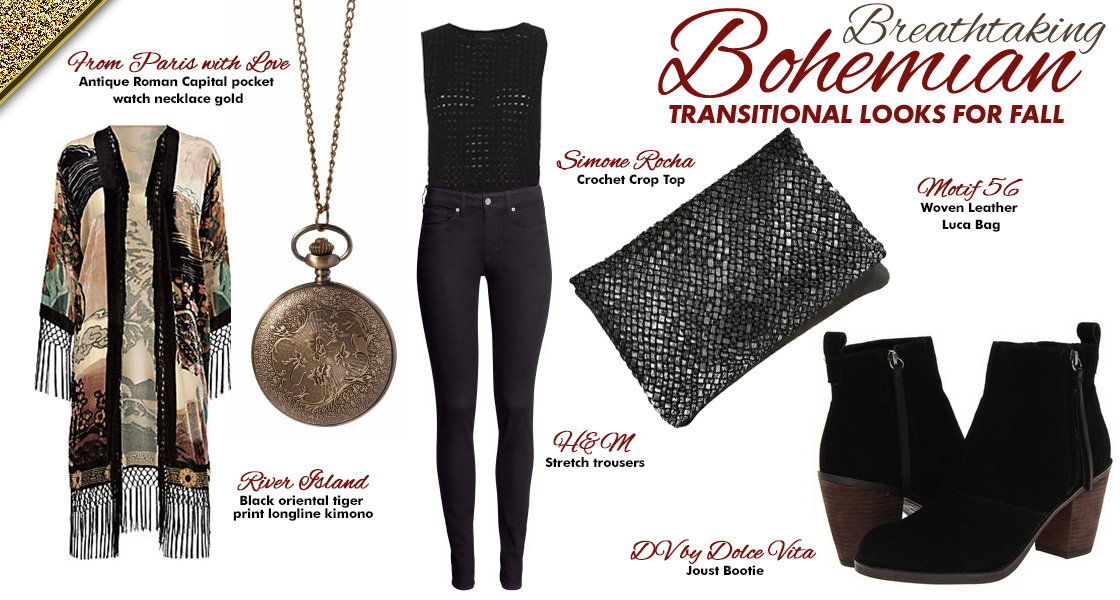TThree Breathtaking Bohemian Transitional Looks for Fall