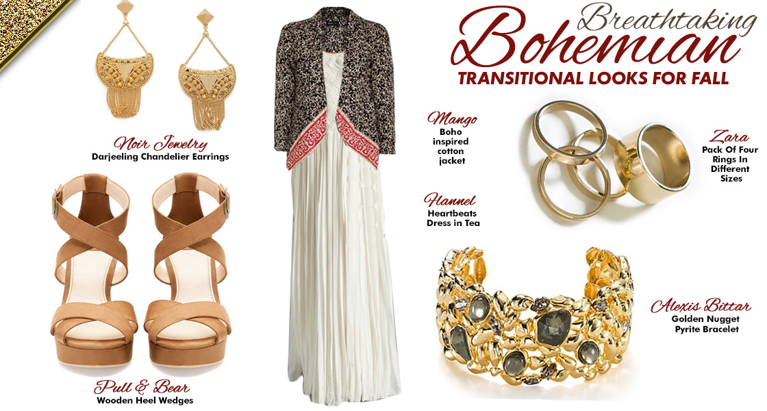 Three Breathtaking Bohemian Transitional Looks for Fall