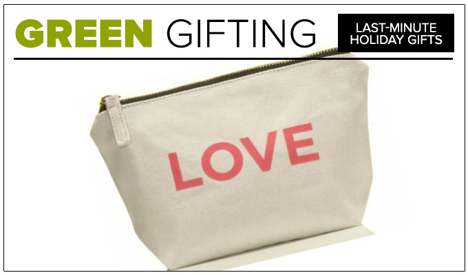 One Love Organics Canvas Cosmetics Bag