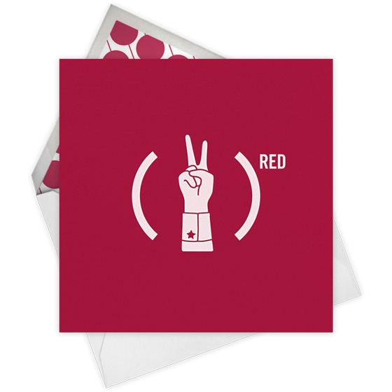 Jonathan Adler (Product)RED Special Edition Paperless Post Card