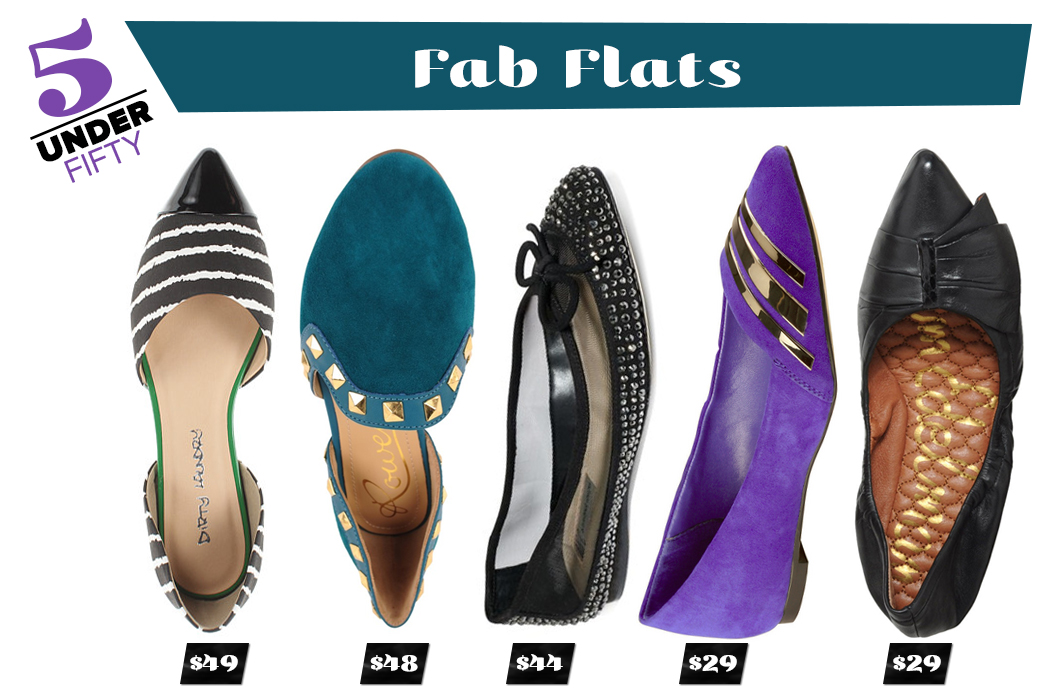 5 Under Fifty - Fab Flats
