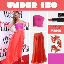 How to Get Leslie Mann's Brilliant Coral and Pink Springtime Look for Under $150