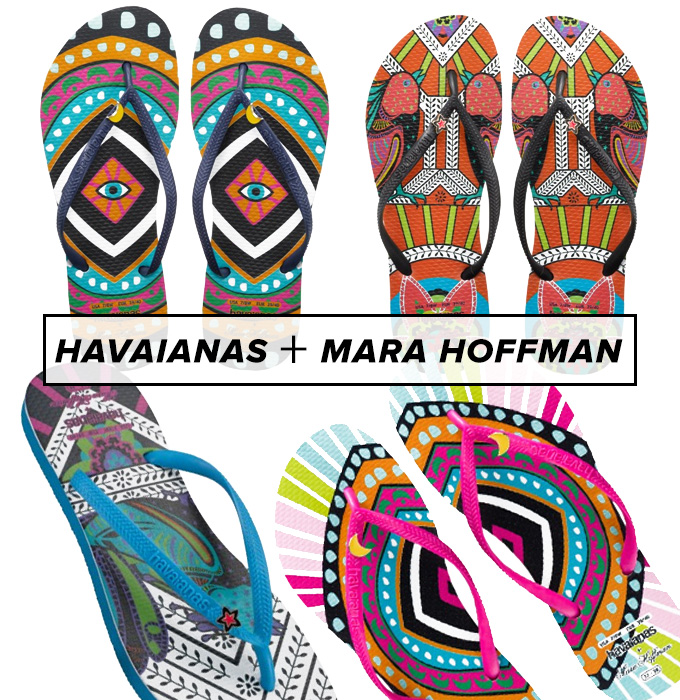WWe're Flipping Over These Havaianas X Mara Hoffman Flip Flops