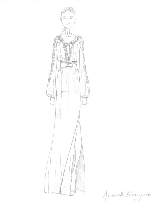 Altuzarra for Target Maxi Swiss Dot Sketch