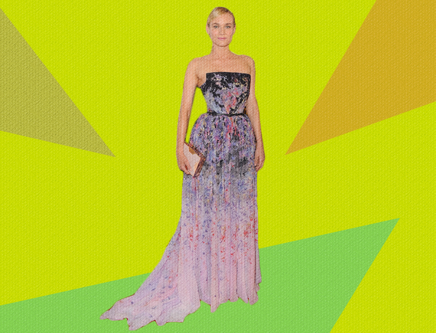 Diane Kruger In Elie Saab Couture At The 2014 Critics Choice Awards