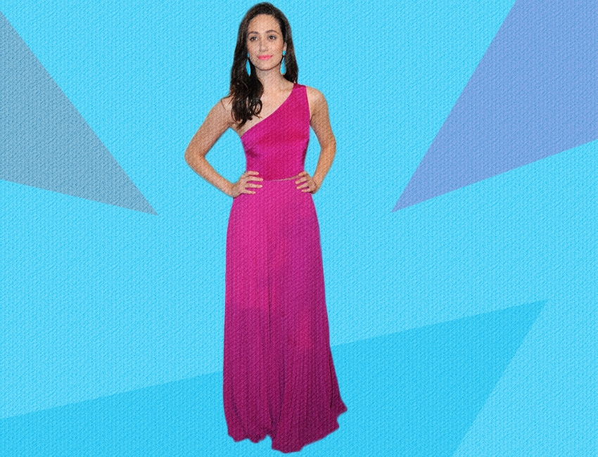 Emmy Rossum In Monique Lhuillier At The 2014 Critics Choice Awards