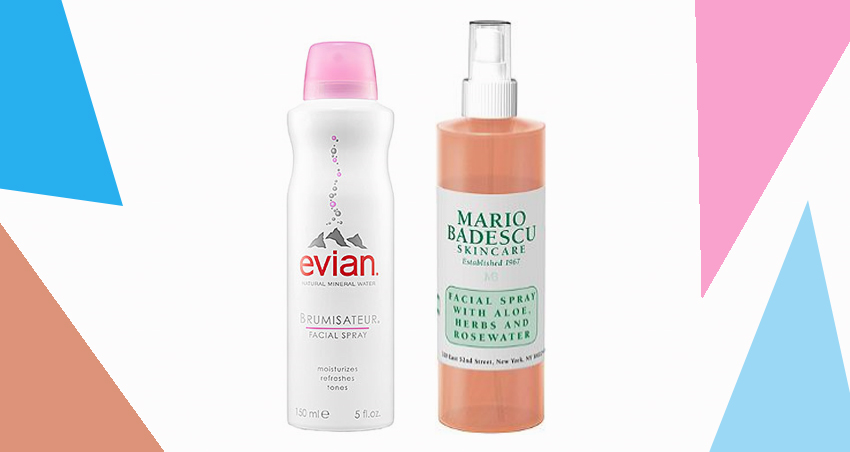 Evian Mineral Water Spray And Mario Badescu Facial Spra