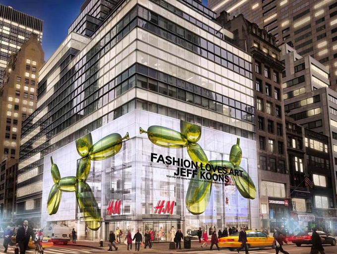 H And M X Jeff Koons Opening At Flagship Store