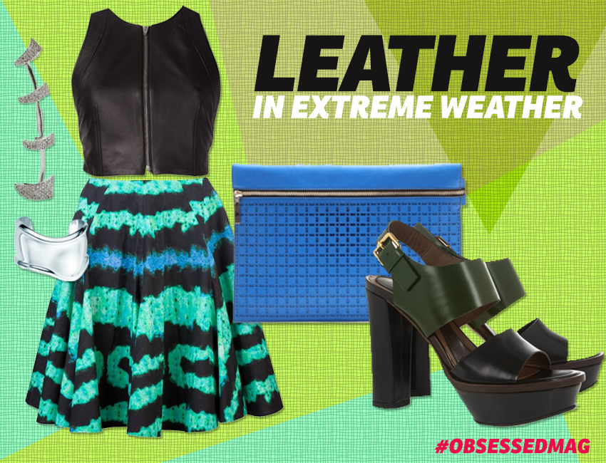 Leather In Extreme Weather Look 1
