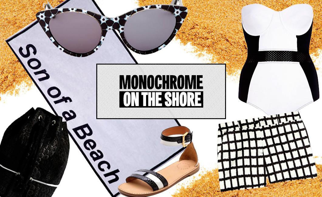 Monochrome On The Shore
