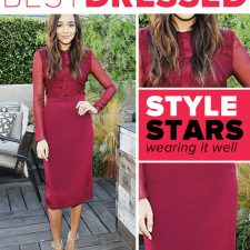 Best Dressed:  Ashley Madekwe in Beautiful Bordeaux