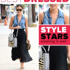 Best Dressed: Jamie Chung in Chiffon and Chambray