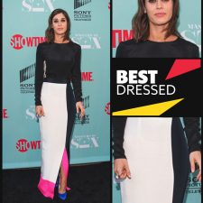 Best Master of Color Blocking:  Lizzy Caplan in Roksanda Ilincic