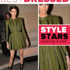 Best On-Duty Model Look: Kendall Jenner in Fall Balmain