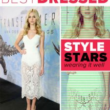 Best Dressed: Nicola Peltz Lovely in Lacy Dolce & Gabbana and Stella McCartney