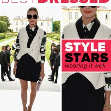 Best Borrowing from the Boys Look: Olivia Palermo in Christian Dior
