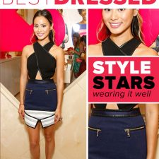 Best Dressed: Jamie Chung in Three Floor and Stuart Weitzman