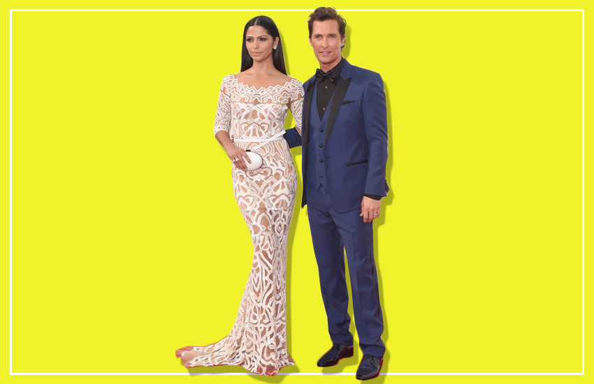 Matthew McConaughey & Camila Alves In Dolce & Gabanna And Zuhair Murad