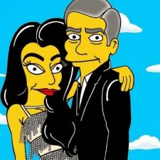 George Clooney and Amal Alamuddin's Wedding Got 'Simpsonized'