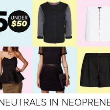 Five Under Fifty: Neutral in Neoprene