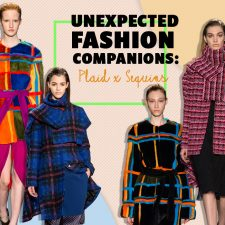 Unexpected Fashion Companions: Plaid x Sequins