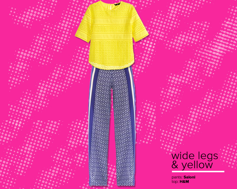 Revamp Wide Leg And Yellow